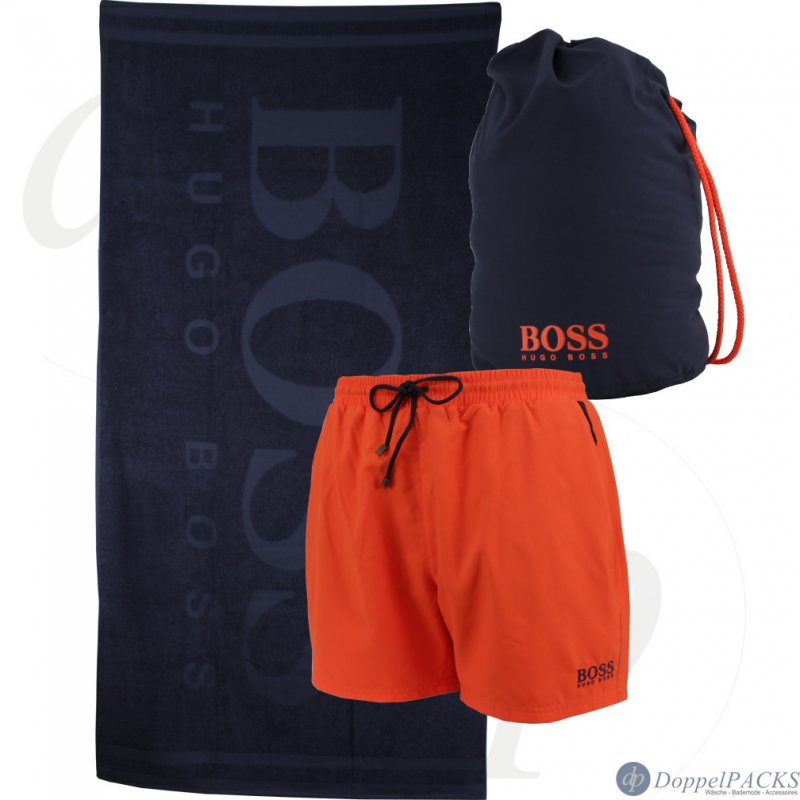 hugo boss beach set 1 badeshorts 1 badetuch 1 stoff rucksack badehose saunatuch 99 95. Black Bedroom Furniture Sets. Home Design Ideas