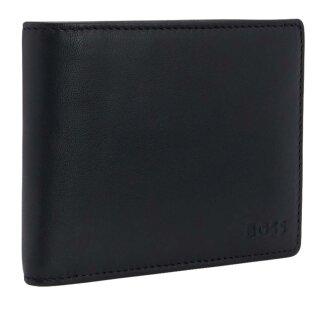 138ba46b7981c BOSS Geldbörse aus glattem Leder   Arezzo  Schwarz
