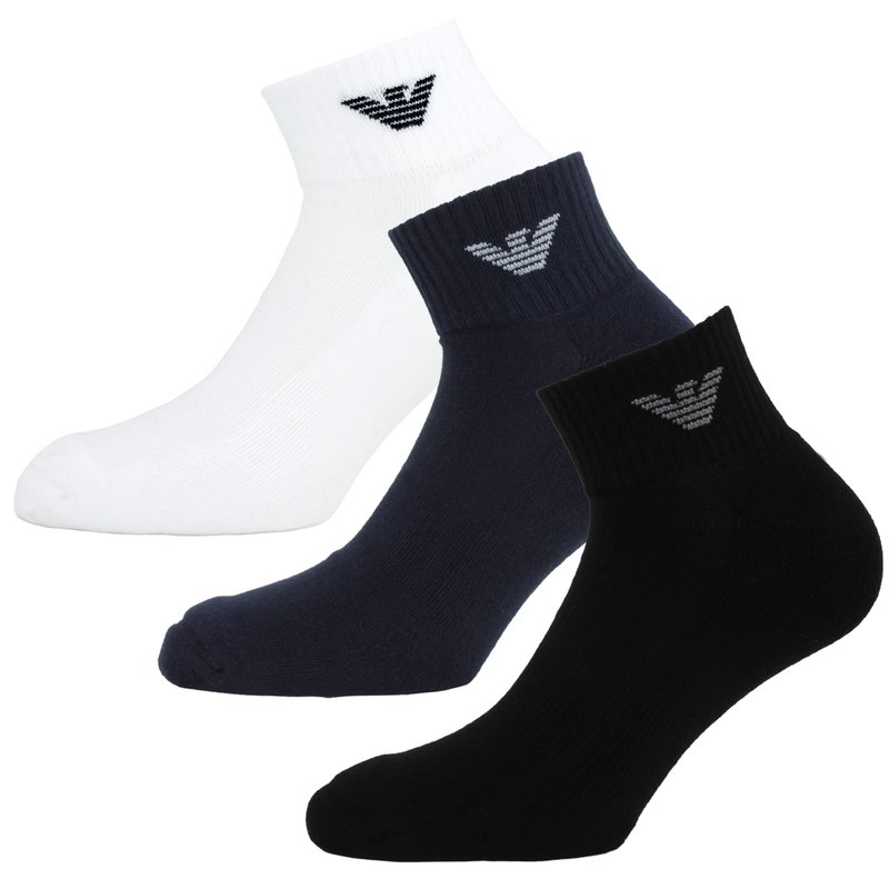 emporio armani herren sneaker sportsocken 23 95. Black Bedroom Furniture Sets. Home Design Ideas