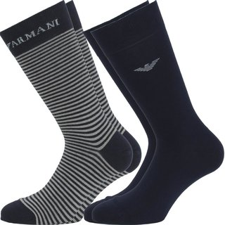EMPORIO ARMANI 2 Pack one size Socken       00035 2Pack Navy
